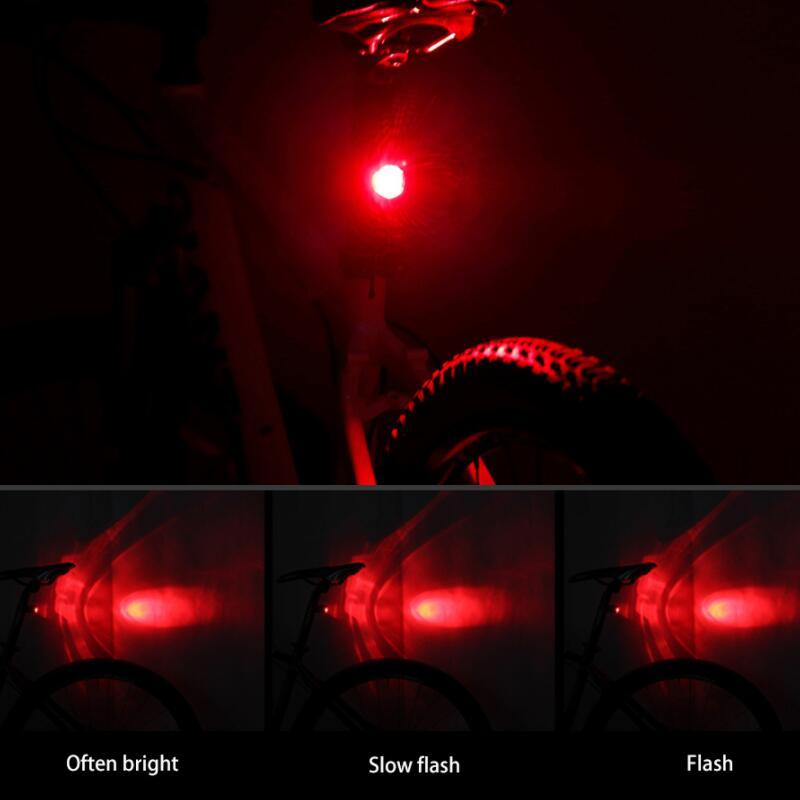 Waterproof LED Front Rear Bicycle Cycling Tail Flash Light Safety Warning Lamp