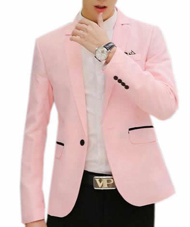 GELEN KILAVUZ Erkek Şık Katı Yaka Blazer Ceket Kaban