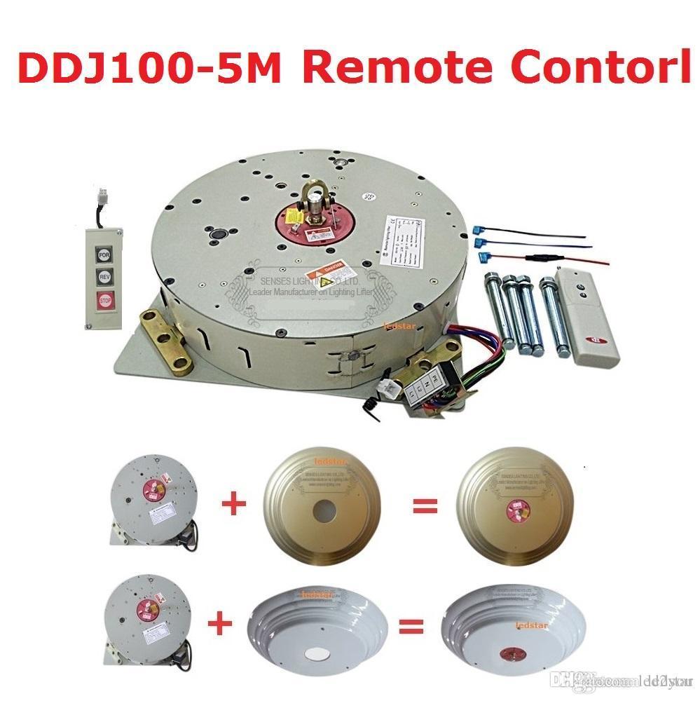 Oto Uzaktan Kontrollü Vinç Kristal Avize Vinç Aydınlatma Kaldırıcı Elektrikli Vinç Işık Kaldırma Sistemi Lamba Motoru DDJ100 5M Kablo