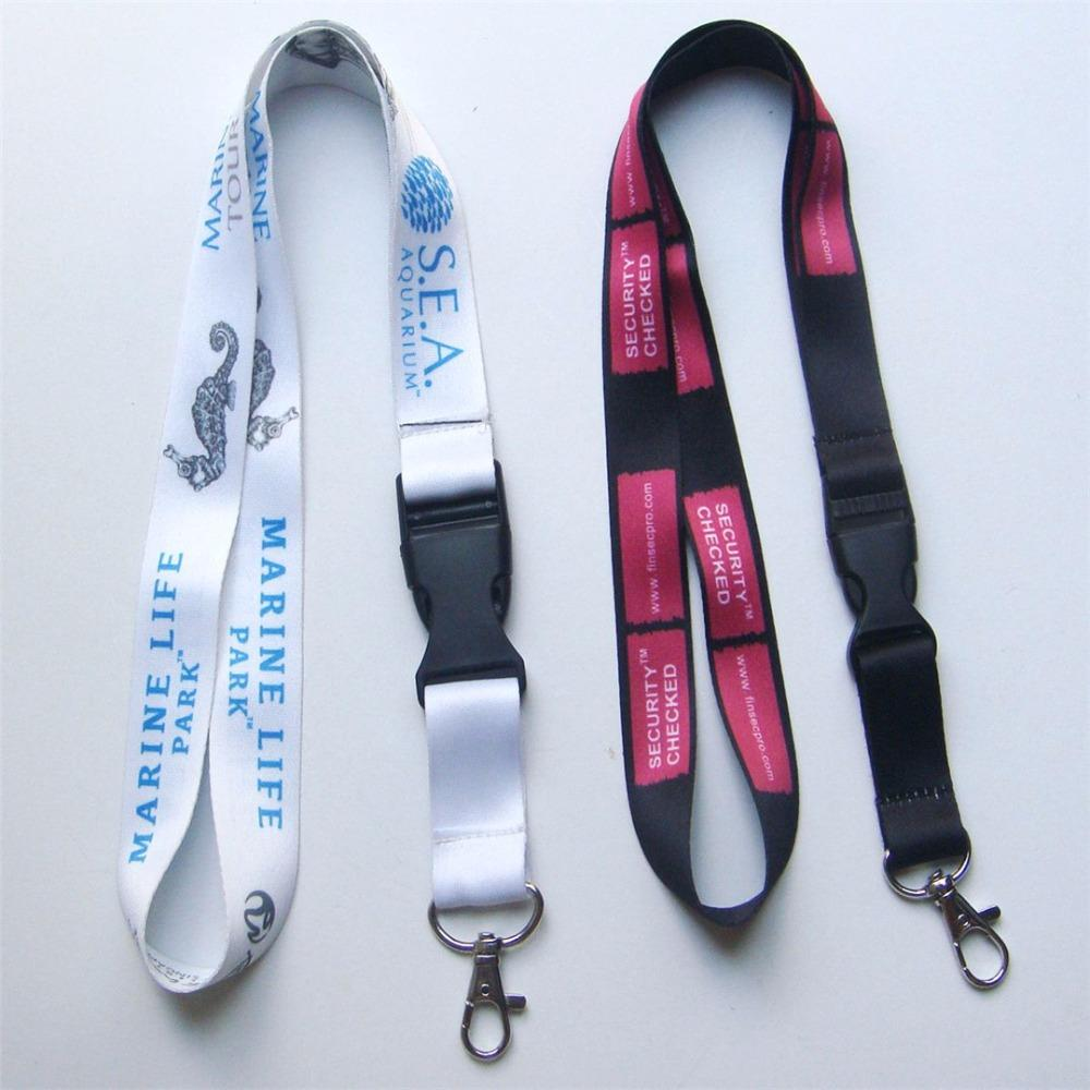 400pcs/lot DHL free shiping Customized lanyard 20mm wide sublimation polyester lanyard with release buckle,Custom lanyards