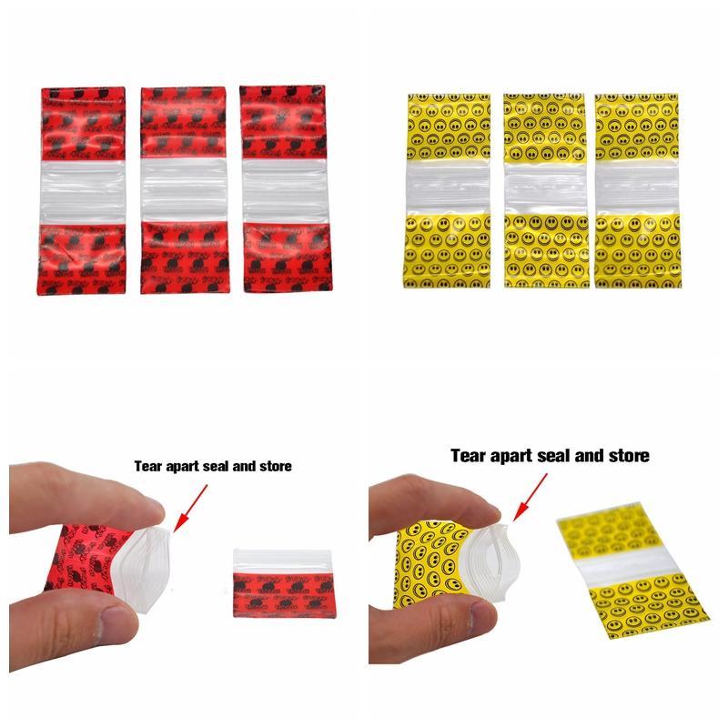 Saco de plástico colorido da loja do selo do rasgo além de 100 partes pelo bloco para a erva da cera O gotejamento do Snuff derruba o produto que empacota usos múltiplos DHL de alta qualidade