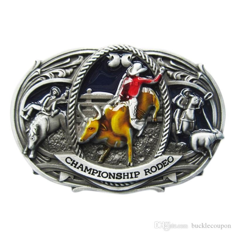 Новый винтажный эмаль западного чемпионата по родео с пряжкой Boucle de ceinture