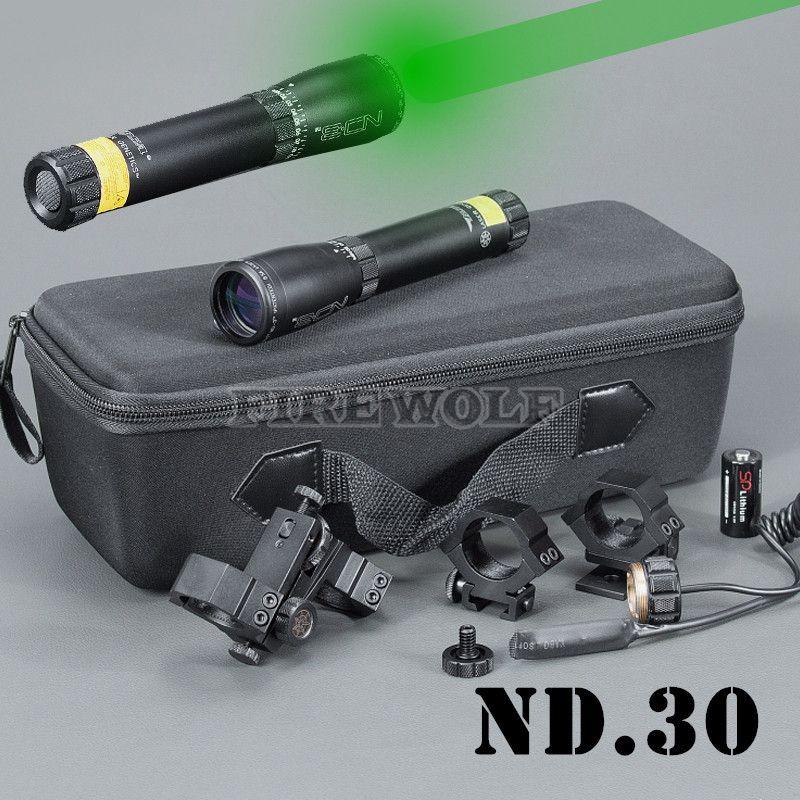 Nouveau désignateur laser vert longue distance ND3 X30 ND30 de LASER GENETICS avec chasse au bâti réglable