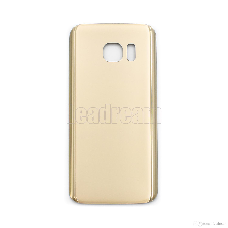 100pcs original batterie porte arrière logement couvercle couvercle en verre pour Samsung Galaxy S7 G930P S7 Edge G935P avec autocollant adhésif gratuit DHL