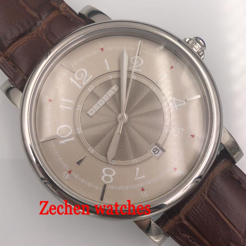 Debert Stainless Steel Case 43mm Gray Dial 21 Jewels