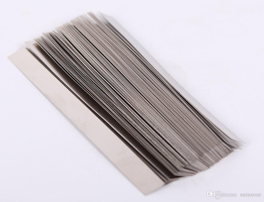0.15mm x 12mm x 100mm 100pcs Pure Nickel Plate Strap Strip Sheets 99.96% for Battery Spot Welding Machine Welder Equipment Tools