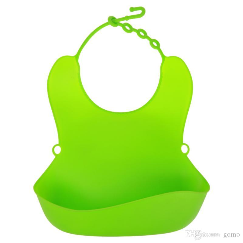 Baberos para bebés Delantal de alimentación impermeable de silicona Pañuelo de color sólido Toalla de saliva infantil Paños para niños recién nacidos Burp Baberos de bebé