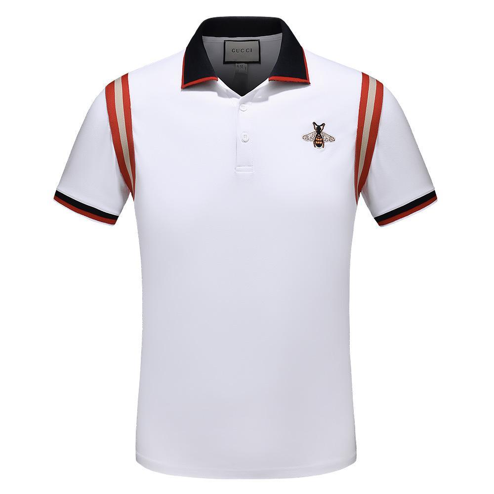 Camicia a maniche corte degli uomini casuali Polo di marca modo di alta qualità Crime modo di alta qualità europea T-shirt bavero Brand Design Libertà