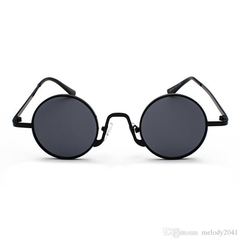 E lenti 2018 Fashion Beeybridge Frame Clear Metal Round New High Women Wholesale Colori all'ingrosso con occhiali da sole pieno STBPH