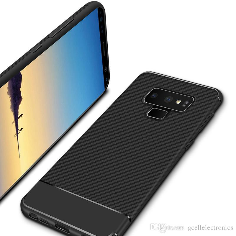 hot sale online 8ec35 d8b37 For Iphone XS Max XR Samsung Galaxy Note 9 J3 J4 J6 J7 2018 Carbon Fiber  Design TPU Slim Back Cellphone Cases Covers Free Cell Phone Cases Leather  ...