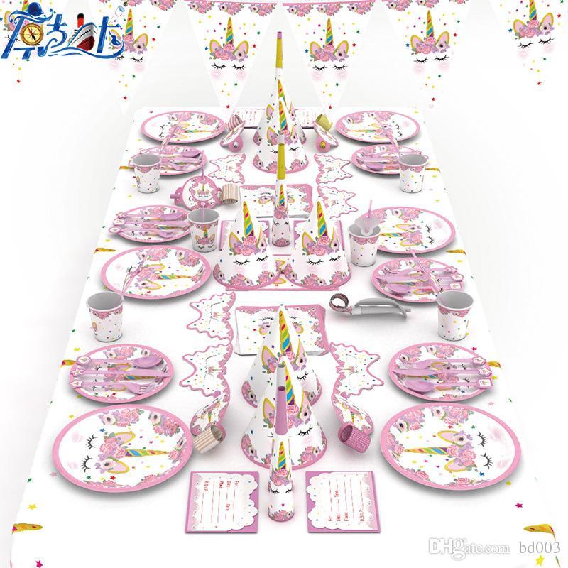 Cartoon Unicorn Theme Tableware Kids Birthday Festival Party Wedding Supplies Home Decorations Photography Props New Arrival 36 8kk Ii 2nd Birthday Party Supplies 2nd Birthday Party Themes From Bd003 13 57 Dhgate Com