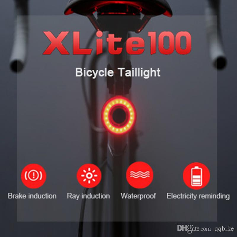 Smart Bike LED Tail Light USB Rechargeable Auto Start//Stop Brake Sensor