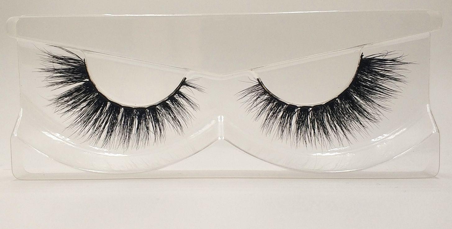 3D Mink False Eyelashes 100% Mink Fur Long Thick Hand-made Reusable Eyelashes Natural 1 Pair Pack MTL003
