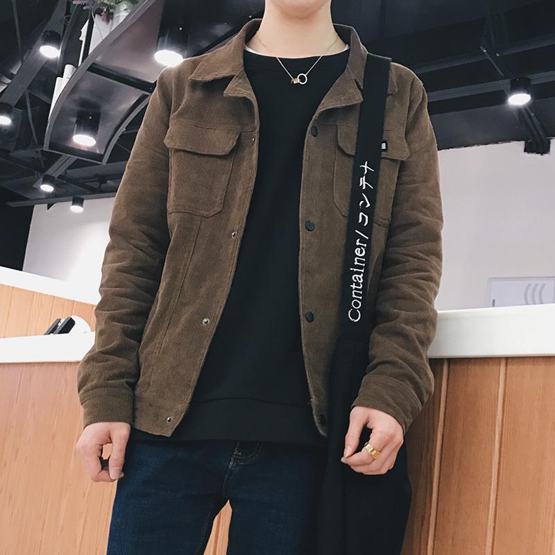 2018 New Arrival Voltar Moda roupas chaqueta hombre Casacos Causal Marca Slim Fit casaco de veludo de algodão Tecido Bomber Jacket M-3XL