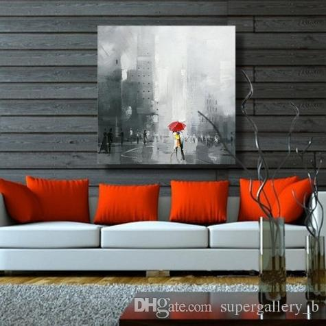 Pure Handpainted & HD Art Print Modern Abstract Landscape Art Oil Painting Horse On High Quality Canvas Home Wall Decor Multi size l07
