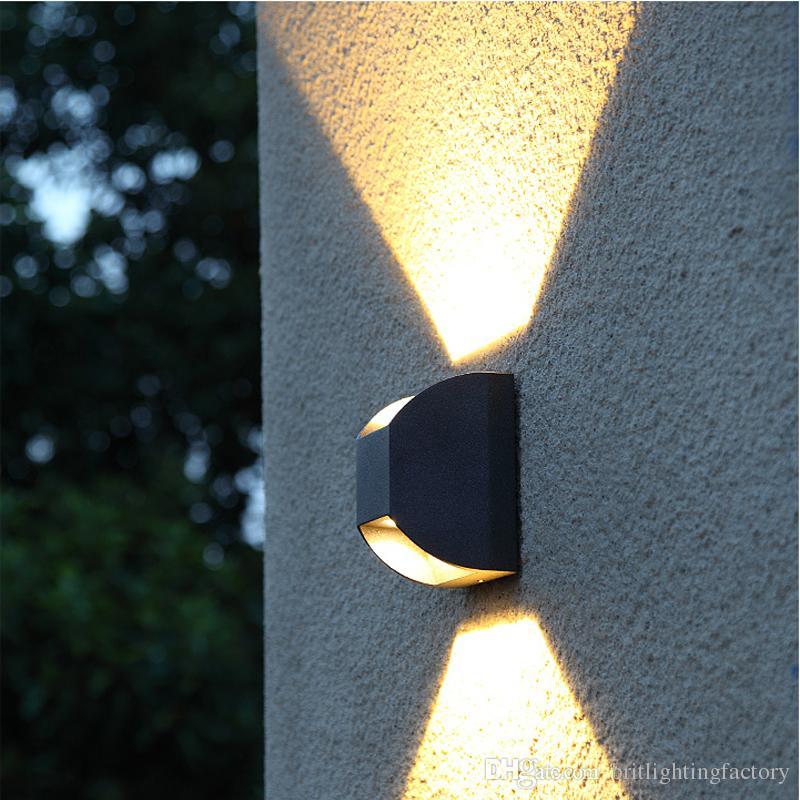 Luce esterna moderna ha condotto la lampada impermeabile della parete Lampada del patio Ip65 all'aperto ha condotto l'illuminazione del portico delle luci della parete della luce di Down Down Light
