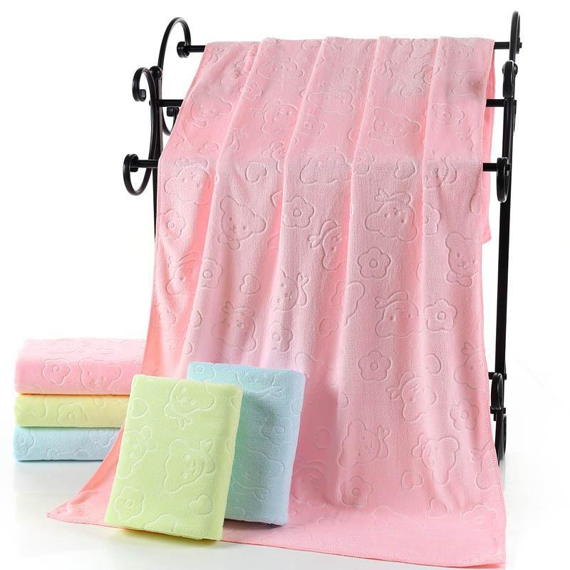 Микрофибра Большой Медведь полотенце для взрослых дети сгущаться мягкий супер абсорбент быстрое высыхание плавание красоты пляжные полотенца 70x140cm