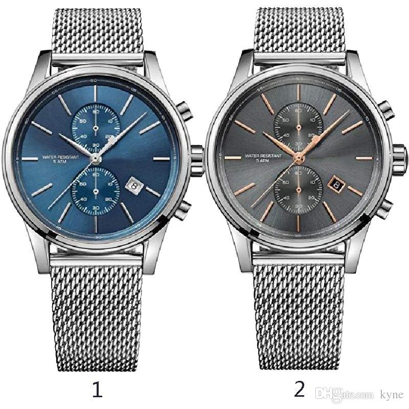 Новый выпуск мода индивидуальные мужские часы 1513440 1513441 + оригинальная упаковка + Оптовая торговля + бесплатная доставка горячий продавец