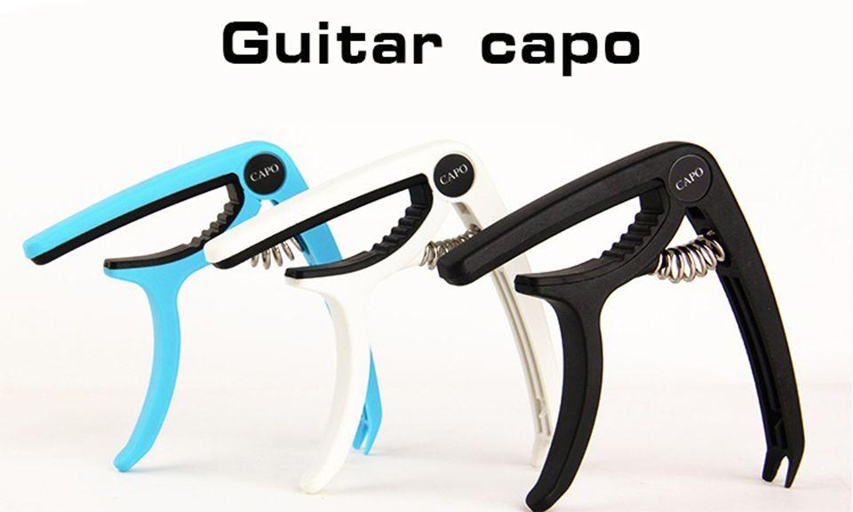 Capo de guitarra de plástico para 6 cuerdas guitarra acústica clásica eléctrica Guitarra Ukulele afinación abrazadera instrumentos musicales accesorios NY033