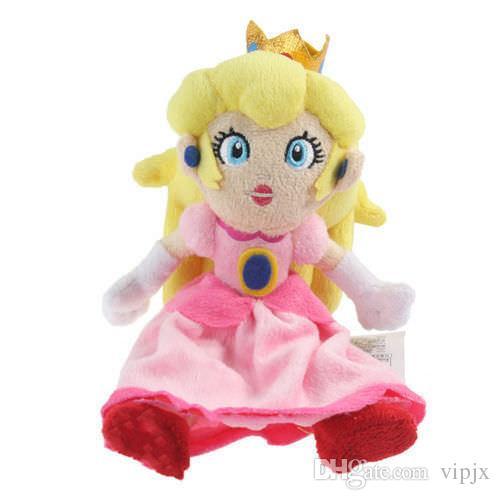 "8"" 20cm Super Mario Bros. Princess Peach Plush Doll Stuffed Toy Gift New 2018"