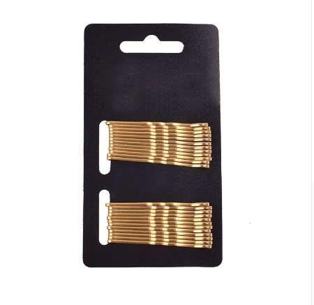 24 stücke haar pins keine schmerzen für haar schwarz gold täglichen gebrauch bobby pins welle haarspangen klassische einfachheit zubehör DIY Werkzeug