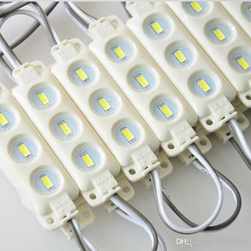 3 LED super luminosité blanc blanc chaud LED module lumière DC 12V étanche module d'injection IP65 lumière 5730 SMD LED signe