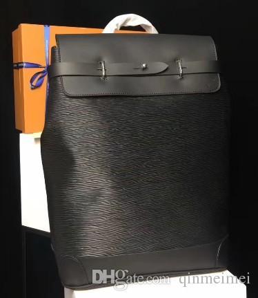 Cor preta flor Nova Marca Mochilas Mens mochila 2018 STEAMER hight real designer de qualidade M43296 hobo sacos 45 * 32 * 16 cm