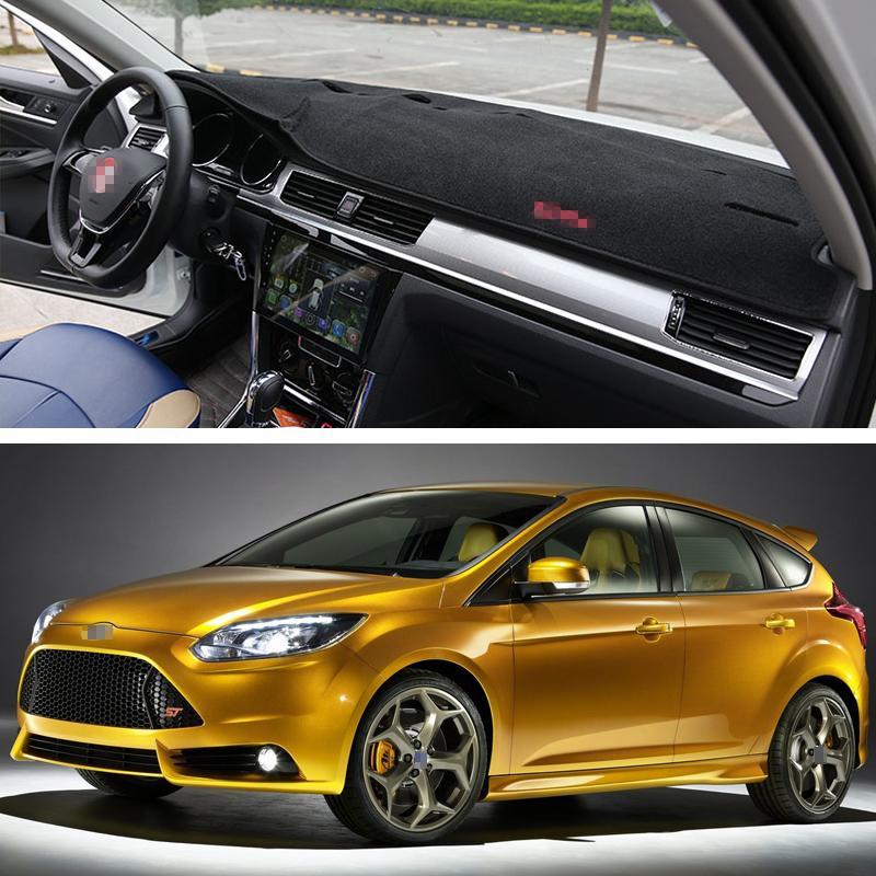 Новый автомобиль приборной панели тире коврик солнцезащитный козырек крышка колодки внутренний подходит для Ford Focus ST 2010-2014 11 12 13