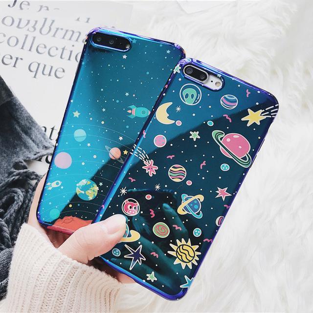 Universe Phone Case For IPhone XS XR XS Max X 8 7 6 6S Plus Blu ...
