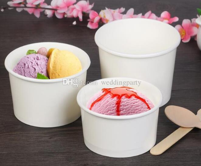 White Paper Cup United Artists Disposable Cups Ice Porridge Cream Bowl Without Cover For Sale Free Shipping No Peculiar Smell