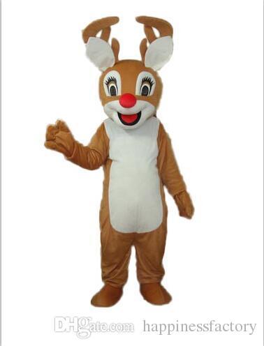 2019 горячая распродажа с одним мини вентилятором внутри головы рождественский красный нос олень олень талисман костюм для взрослых носить