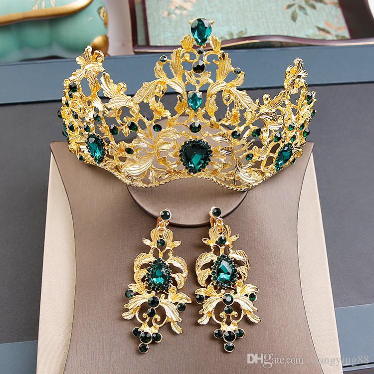 2017 Lüks Düğün Tiaras İnciler Ve Rhinestone Gelin Headpieces Aksesuarları Yüksek Kalite TiarasCrowns Fascinators Sıcak Satış