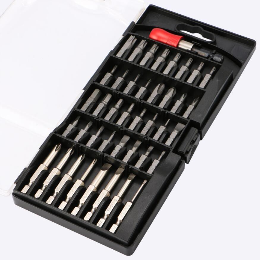 Neue 43 In 1 Hohe Qualität Elektrische Schraubendreher-Bits Magnetische Waschen Bits Kegel Lade Hand Bohrmaschine Treiber Kopf Set Großhandel