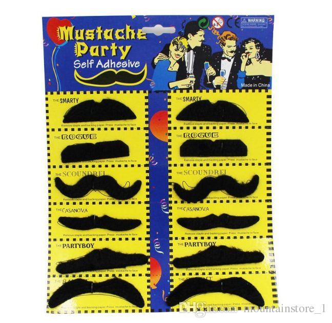Costume Party 36 Count Of Mustaches Self Adhesive Mustaches Set Party Humor