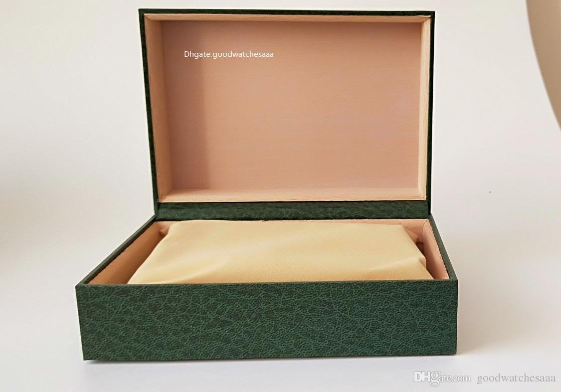 Envío gratis Reloj verde Caja original Papeles de la tarjeta Monedero Cajas de regalo Bolso 185mm * 134mm * 84mm 116610 116660 116710 118239 116500Factory