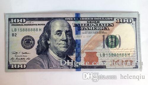 Divers pays imprimés Creative Money Portefeuille Mode Dollar Porte-monnaie Porte-cartes Porte-cartes Enfants Enfants cadeaux cadeaux