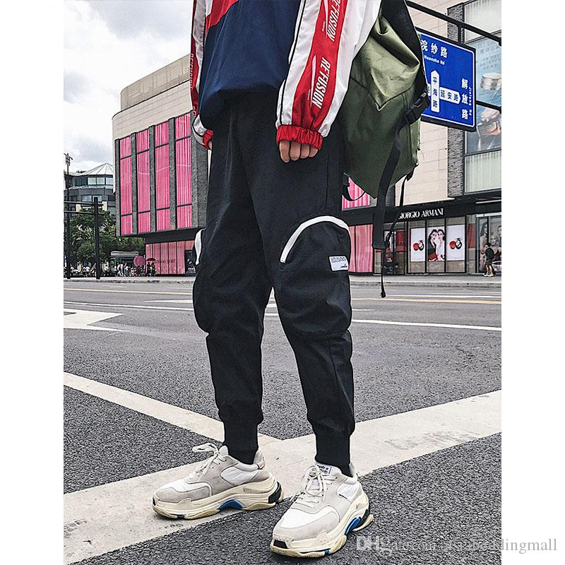 Men Black Joggers Pants Mens Streetwear Big Pockets Sweatpants Male Japanese Track Pants Autumn Harem Pants