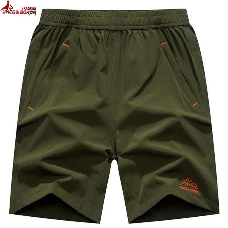 UNCO&BOROR Big size 6XL,7XL,8XL,9XL Casual Shorts Mens Elastic Waist brand clothing summer Breathable Quick-drying Board Shorts
