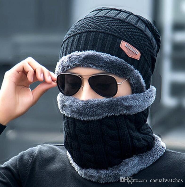 Шляпа + нагрудник осенние и зимние шапки для мужчин и женщин плюс толстый бархатный открытый ветрозащитный теплая шапка