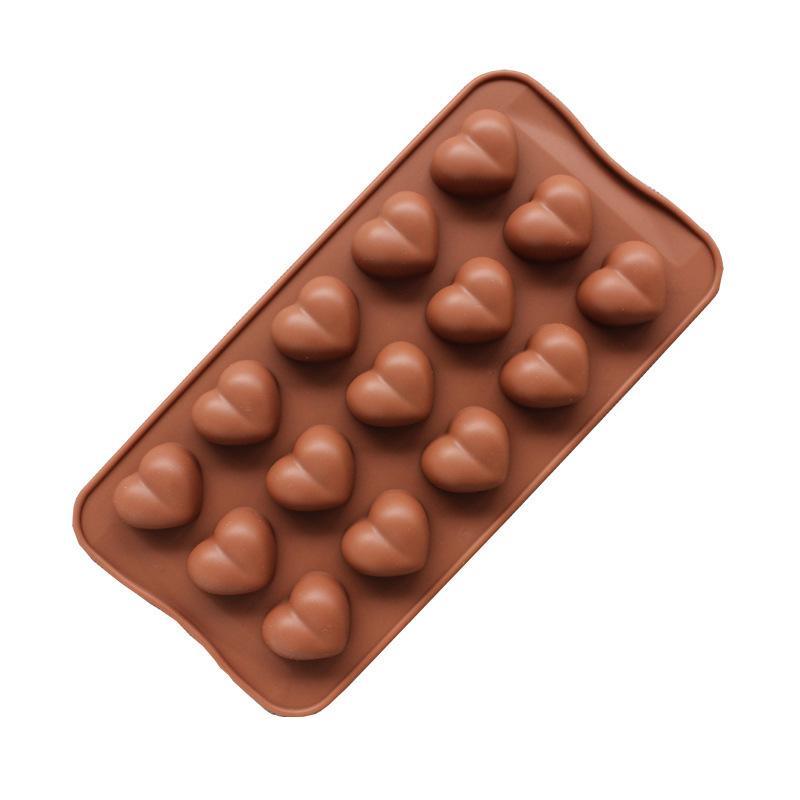 15 حفرة الحب قلوبين شكل siliccone الشوكولاتة نموذج دليل diy العفن الصابون سيليكون العفن أدوات الخبز للكعك المعجنات
