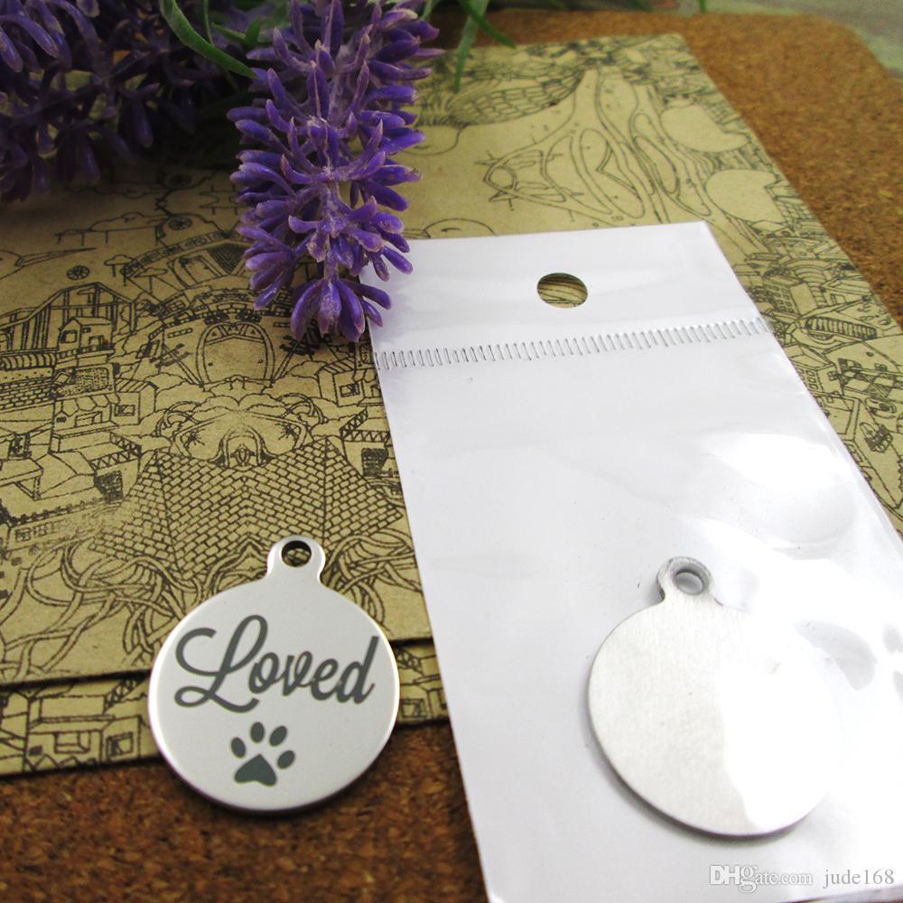 40шт - «любил» прелесть из нержавеющей стали больше стиля для выбора DIY очаровывает подвески для ожерелья