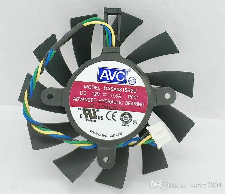 NVIDIA GTX460 550TI AVC vierpoliger Grafikkartenlüfter DASA0815R2U intelligenter Thermostat DASA0815R2H