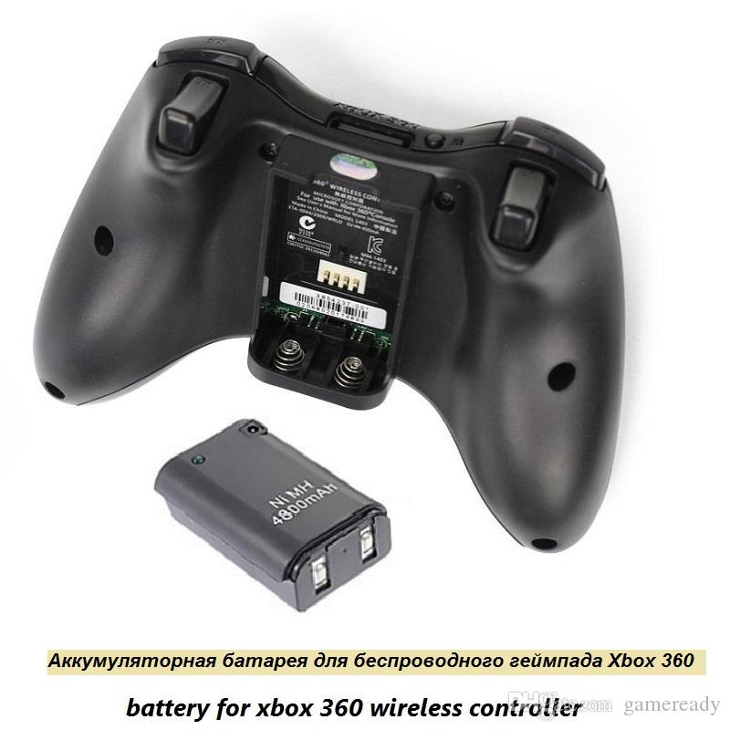Beste 4800 mAh Akku + Ladekabel für Xbox 360 Wireless Game Controller Gamepads Batterie Pack Xbox 360 Bateria Ersatz