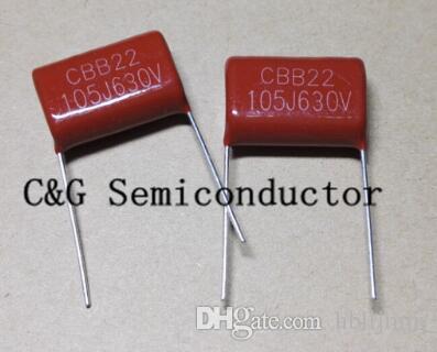20 sztuk metalowy kondensator filmowy CBB21 105 630V 1UF 630V J kondensatory, metalizowany kondensator filmowy
