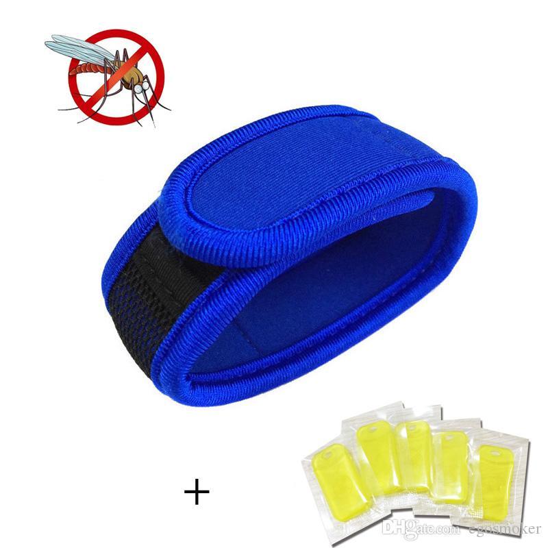 100шт комаров убийца лето противомоскитный браслет с 100шт пополнения гранулы репеллент браслет открытый браслет от насекомых запястье