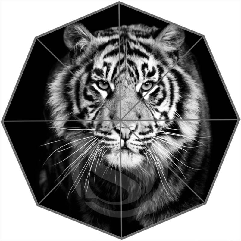 Cool tiger Custom Personalized Portable Triple Foldable Sun and Rain Umbrella FREE SHIPPING SQ0624-JY384