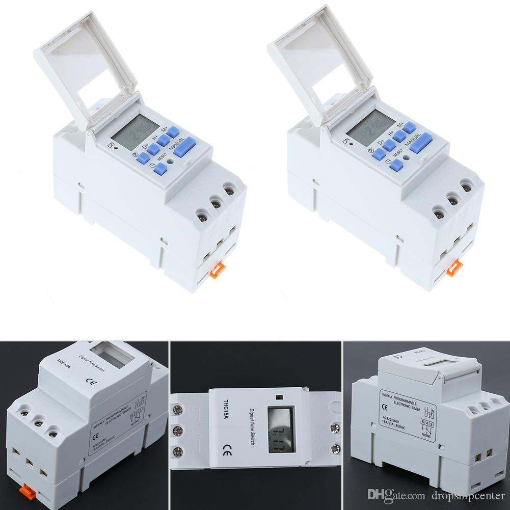 12V/220V AC 50-60Hz Electronic Light Switch Weekly Programmable LCD Digital Timer Electronic Switch Relay Timer ControllerTool