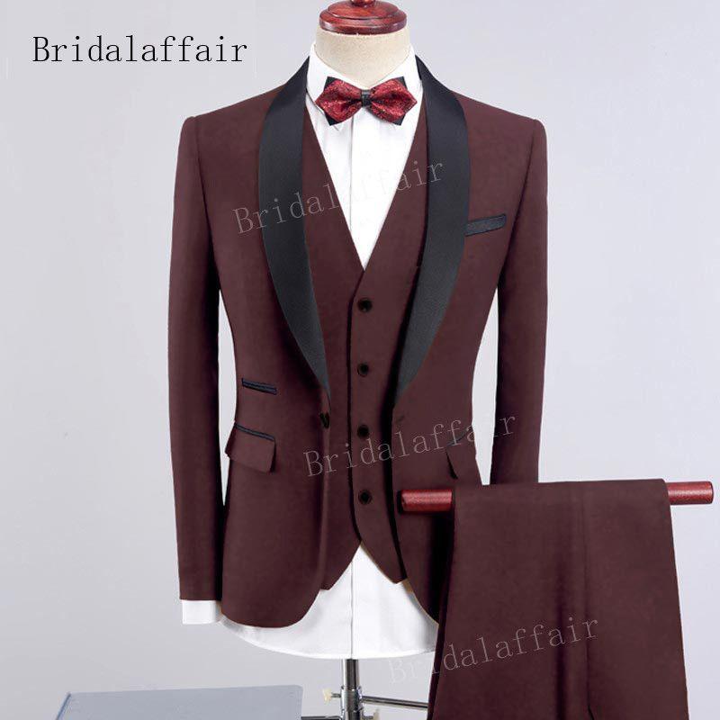 Гвенвифар новый дизайн мужчины коричневый смокинг мужчины костюм Набор 3 шт. мужские формальные костюмы Костюм Homme жених свадебные костюмы блейзер
