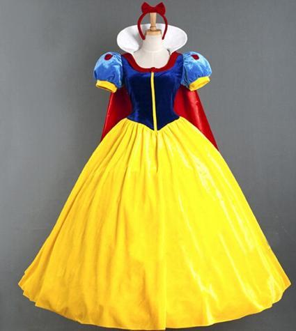 Compre Exquisitos Disfraces De Halloween Blancanieves Para Adultos Reina Cosplay Princesa Fiesta Halloween Mangas Cortas Vestidos A 1674 Del