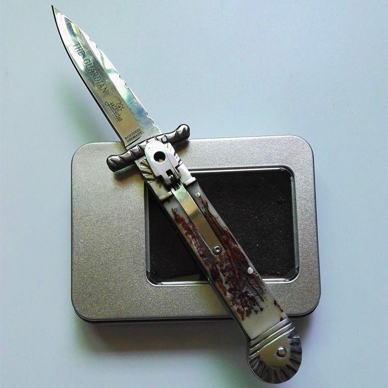Hubercus Solincen меценат хранитель 8.5inch подарок тактический самозащитой складной нож EDC сь нож автоматических автосалонов ножи подарка Xmas